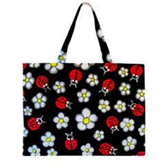 Sixties Flashback Zipper Large Tote Bag by dawnsiegler