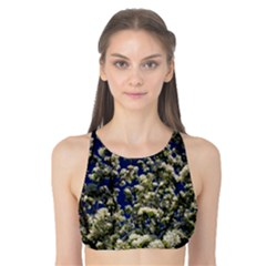 Floral Skies Tank Bikini Top by dawnsiegler