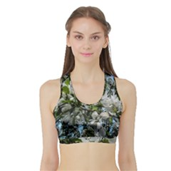 Pure And Simple 2 Sports Bra With Border by dawnsiegler
