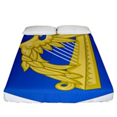 Coat Of Arms Of Ireland, 17th Century To The Foundation Of Irish Free State Fitted Sheet (california King Size) by abbeyz71