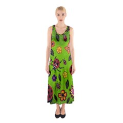 Lucky Ladies Sleeveless Maxi Dress by dawnsiegler