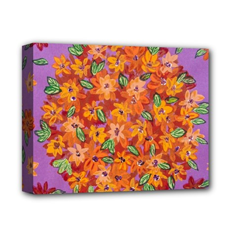 Floral Sphere Deluxe Canvas 14  X 11  by dawnsiegler