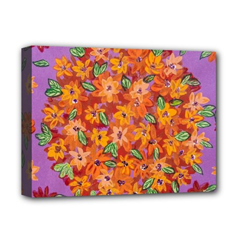 Floral Sphere Deluxe Canvas 16  X 12   by dawnsiegler