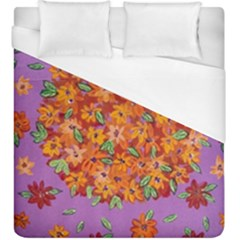 Floral Sphere Duvet Cover (king Size) by dawnsiegler
