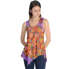 Floral Sphere Sleeveless Tunic by dawnsiegler