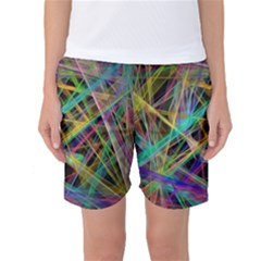 Colorful Laser Lights       Women s Basketball Shorts by LalyLauraFLM