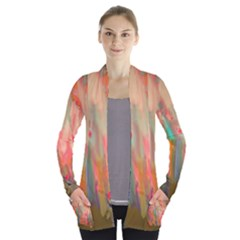 Painting        Women s Open Front Pockets Cardigan