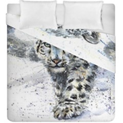Snow Leopard 1 Duvet Cover Double Side (king Size) by kostart