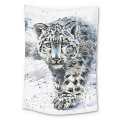Snow Leopard 1 Large Tapestry by kostart