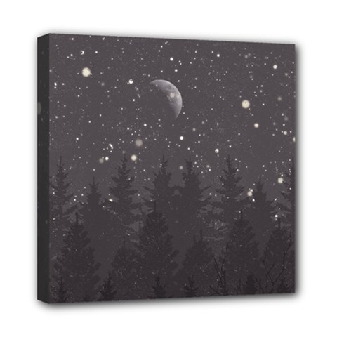 Night Full Star Mini Canvas 8  X 8  by berwies