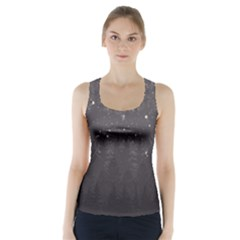 Night Full Star Racer Back Sports Top by berwies