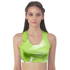 Cabbage Leaf Vegetable Green Sports Bra by Mariart