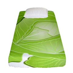 Cabbage Leaf Vegetable Green Fitted Sheet (single Size) by Mariart