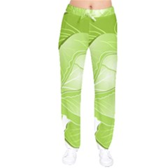 Cabbage Leaf Vegetable Green Drawstring Pants by Mariart