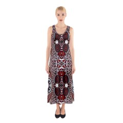 Batik Fabric Sleeveless Maxi Dress