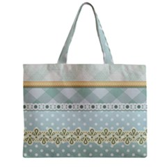 Circle Polka Plaid Triangle Gold Blue Flower Floral Star Zipper Mini Tote Bag by Mariart
