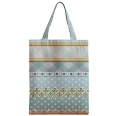 Circle Polka Plaid Triangle Gold Blue Flower Floral Star Zipper Classic Tote Bag by Mariart
