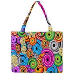 Circle Round Hole Rainbow Mini Tote Bag by Mariart