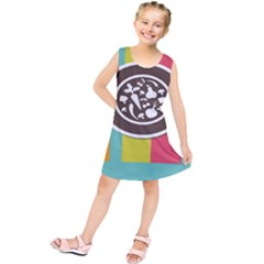 Dinerplate Tablemaner Food Fok Knife Kids  Tunic Dress by Mariart