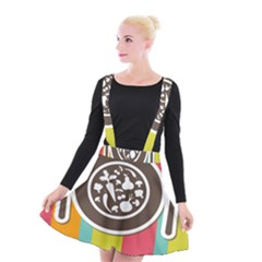 Dinerplate Tablemaner Food Fok Knife Suspender Skater Skirt