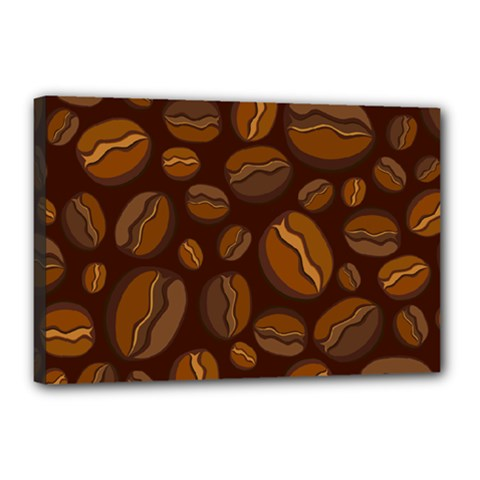 Coffee Beans Canvas 18  X 12  by Mariart
