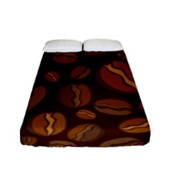 Coffee Beans Fitted Sheet (full/ Double Size) by Mariart