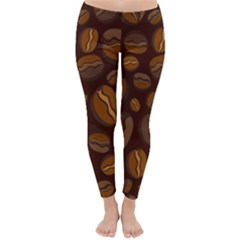 Coffee Beans Classic Winter Leggings by Mariart