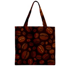 Coffee Beans Zipper Grocery Tote Bag by Mariart