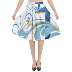 Easter Clip Art Free Religious Flared Midi Skirt by Mariart