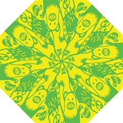 Easter Monster Sinister Happy Green Yellow Magic Rock Straight Umbrellas by Mariart