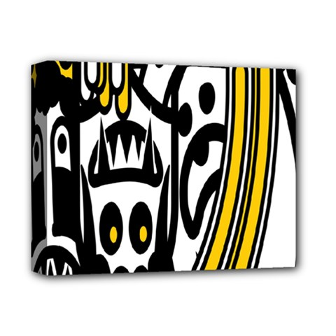 Easter Monster Sinister Happy Magic Rock Mask Face Polka Yellow Deluxe Canvas 14  X 11  by Mariart
