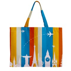 Eiffel Tower Monument Statue Of Liberty Zipper Mini Tote Bag by Mariart