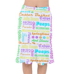 Easter Subway Blossoms Color Rainbow Chocolate Mermaid Skirt by Mariart
