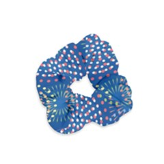 Fireworks Party Blue Fire Happy Velvet Scrunchie by Mariart