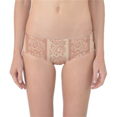 Flower Floral Leaf Frame Star Brown Classic Bikini Bottoms by Mariart