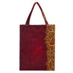 Floral Flower Golden Red Leaf Classic Tote Bag by Mariart