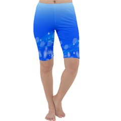 Fish Swim Blue Water Swea Beach Star Wave Chevron Cropped Leggings  by Mariart