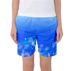 Fish Swim Blue Water Swea Beach Star Wave Chevron Women s Basketball Shorts by Mariart