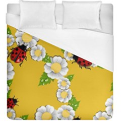 Flower Floral Sunflower Butterfly Red Yellow White Green Leaf Duvet Cover (king Size) by Mariart