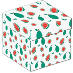 Fruit Green Red Guavas Leaf Storage Stool 12   by Mariart