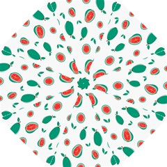 Fruit Green Red Guavas Leaf Golf Umbrellas by Mariart