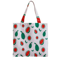 Fruit Green Red Guavas Leaf Zipper Grocery Tote Bag