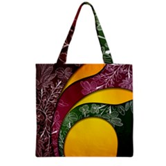 Flower Floral Leaf Star Sunflower Green Red Yellow Brown Sexxy Grocery Tote Bag by Mariart