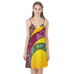Flower Floral Leaf Star Sunflower Green Red Yellow Brown Sexxy Camis Nightgown by Mariart
