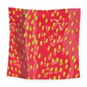 Fruit Seed Strawberries Red Yellow Frees Square Tapestry (Large) View1