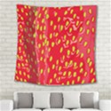 Fruit Seed Strawberries Red Yellow Frees Square Tapestry (Large) View2