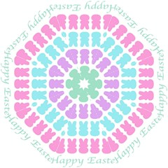 Happy Easter Rabbit Color Green Purple Blue Pink Straight Umbrellas by Mariart