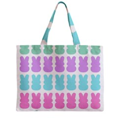 Happy Easter Rabbit Color Green Purple Blue Pink Zipper Mini Tote Bag by Mariart
