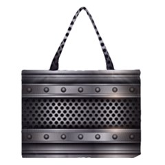 Iron Content Hole Mix Polka Dot Circle Silver Medium Tote Bag by Mariart