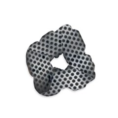 Iron Content Hole Mix Polka Dot Circle Silver Velvet Scrunchie by Mariart
